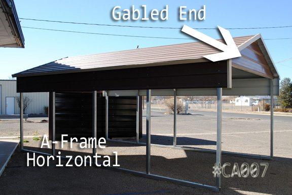 A-frame Horizontal Carport Cover
