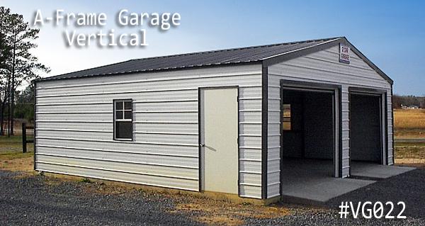 A-frame Metal Vertical Garage