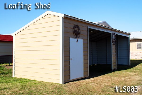 Metal Loafing Hay Shed