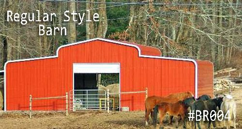 Regular Style Red Horse Barn