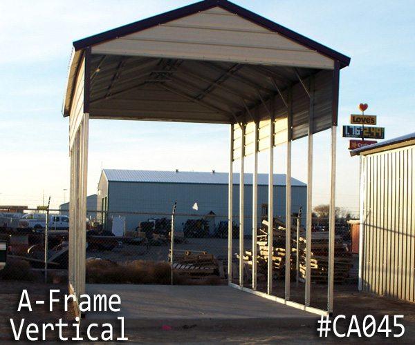 A-frame Carport Vertical RV Cover