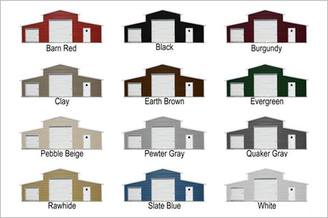 Color Options, Steel Building Feature