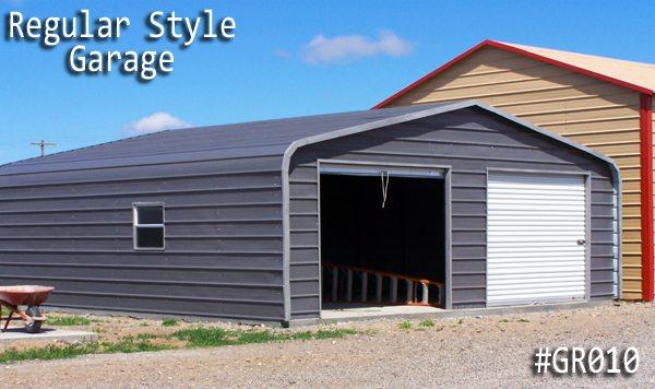 Regular Roof Style Metal Garage