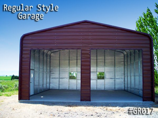 Regular Roof Metal Garage