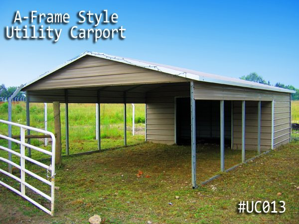 Vertical Roof Metal Utility Carport