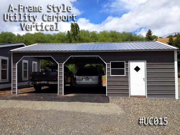 Vertical Roof Utility Carport