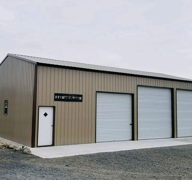 30x50x14 Vertical Roof Garage