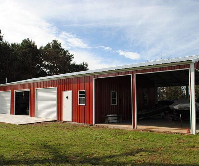 30x70x10 A-frame Vertical Garage