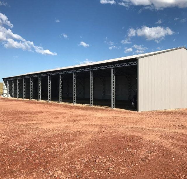 100x250x16 A-frame Warehouse