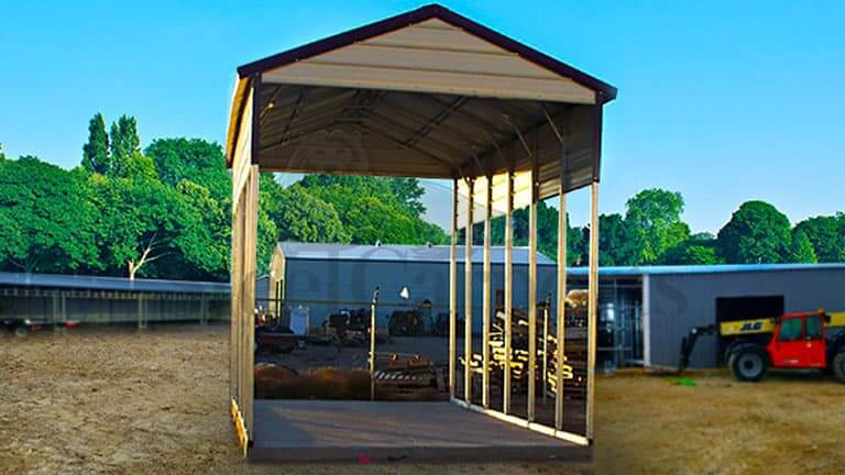 12×31 Aframe Horizontal Certified Carport