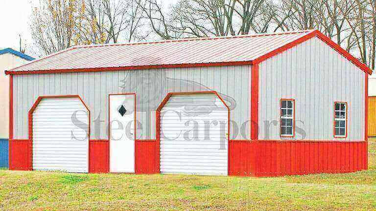 18×30 Side Entry Metal Garage