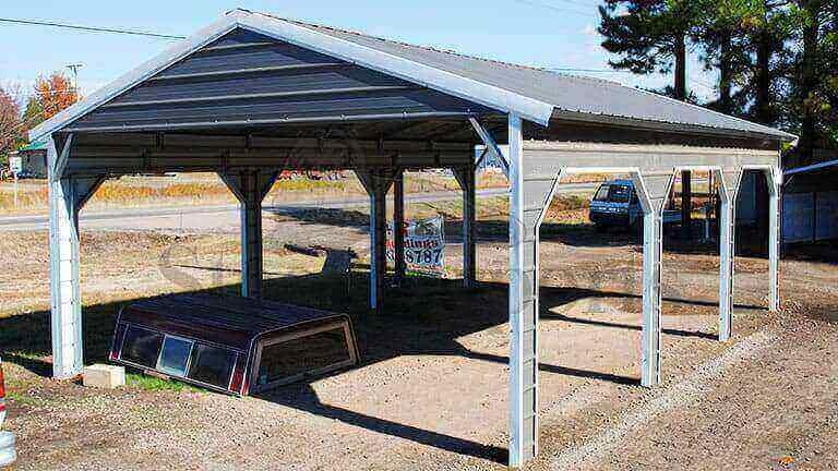 18×30 Side Entry Steel Carport