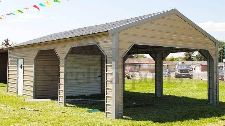 18x30 Side Entry Utility Carport Steel Carports