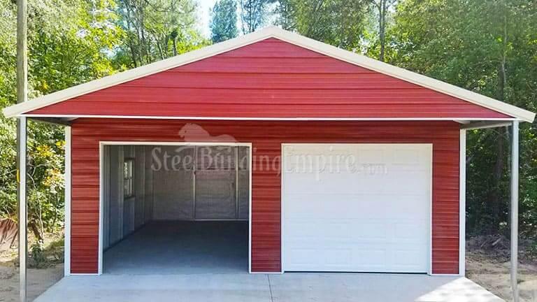 18×36 Metal Garage with Porch