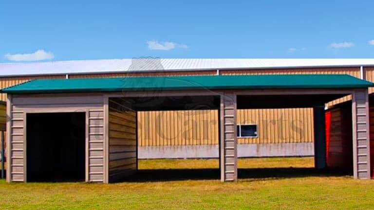 18×36 Aframe Horizontal Combo Carport