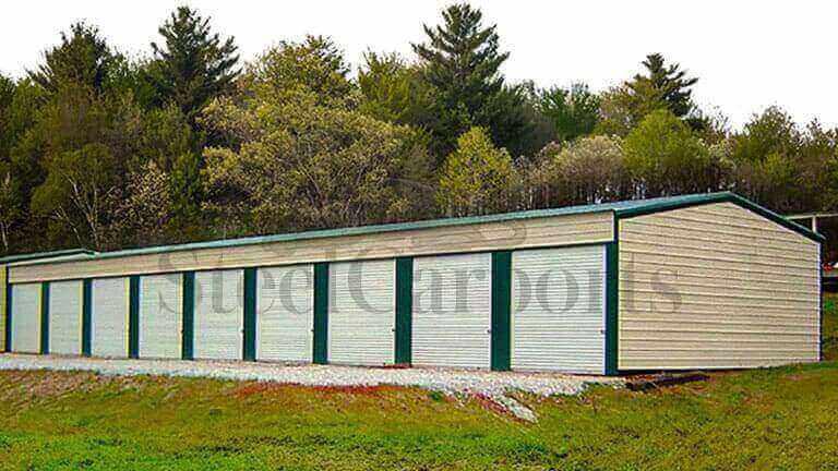 20×100 Aframe Vertical Roof Storage Unit