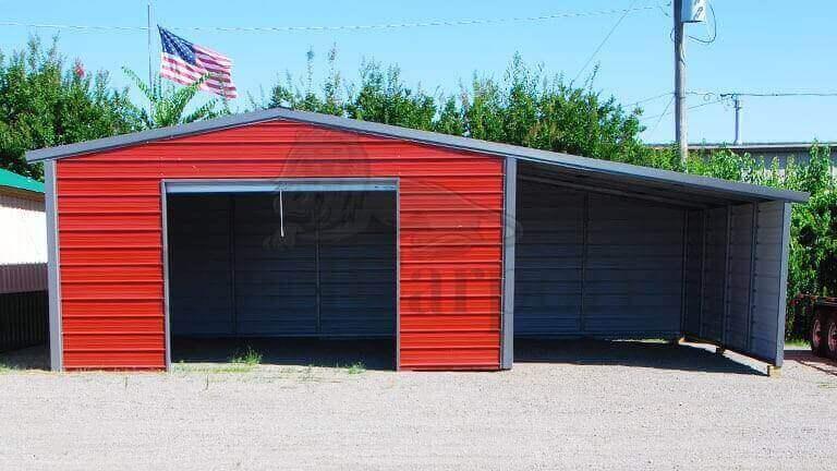 20×20 Vertical Roof Steel Garage