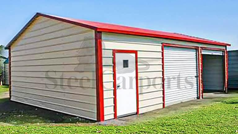 20×30 Aframe Horizontal Roof Garage