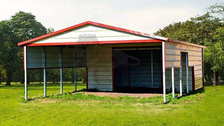20x30 Aframe Vertical Roof Combo Carport