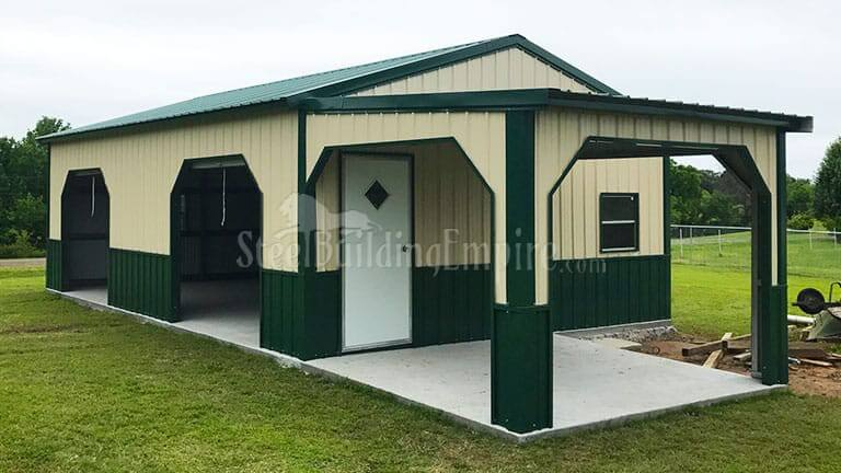 20×35 Colonial Garage With Porch