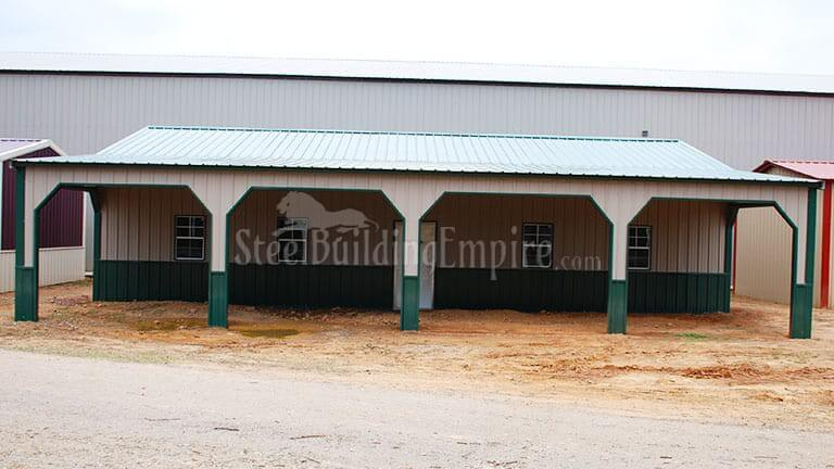 24×45 Colonial Garage with Lean-to
