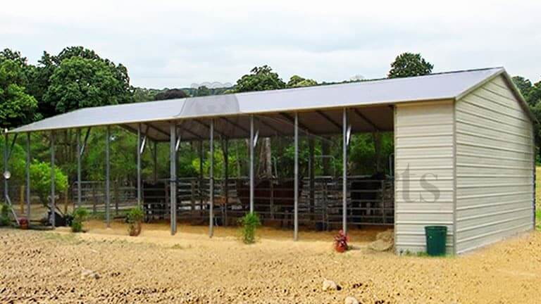 24x60 Aframe Vertical Roof Horse Stall