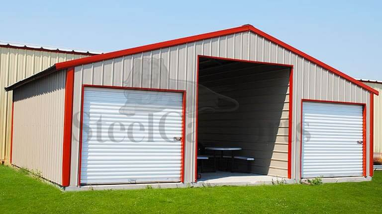 30×24 Straight Roof Steel Barn