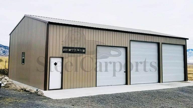 30×50 SIde Entry Metal Garage