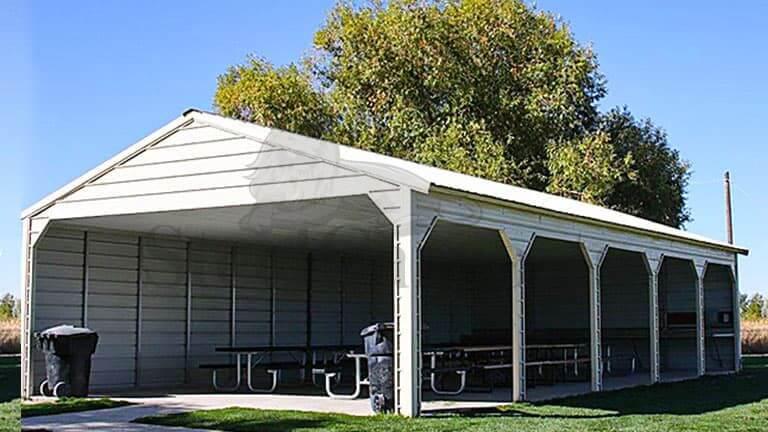 30×55 A-Frame Vertical Carport