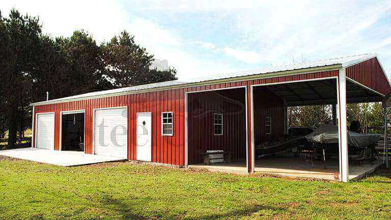 30×70 Fully Enclosed Metal Garage