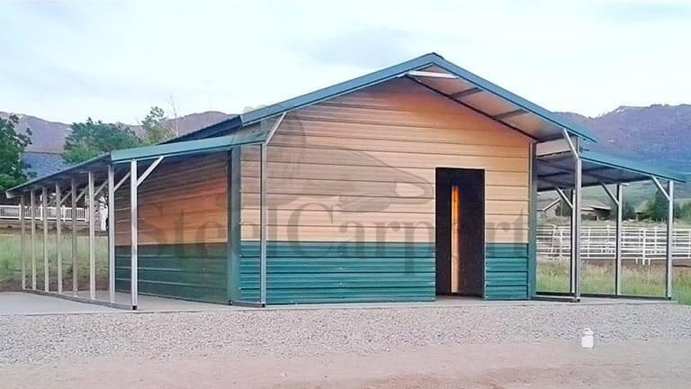 32×35 Aframe Vertical Roof Barn
