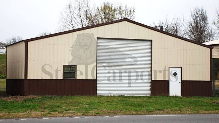 Enclosed Commercial Steel Structure