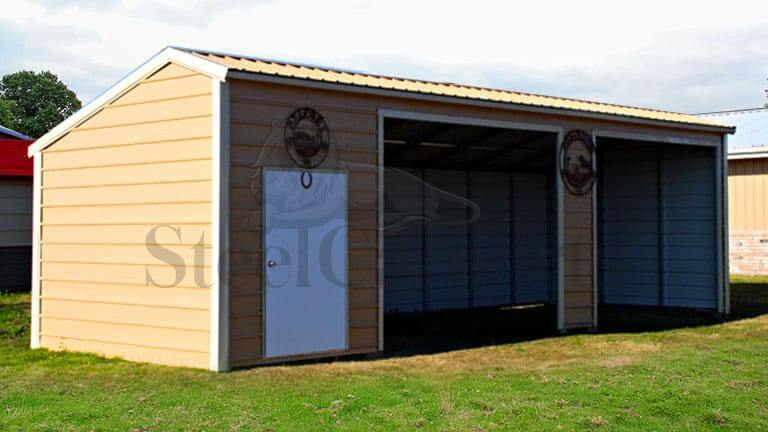 36×15 Vertical Roof Style Loafing Shed
