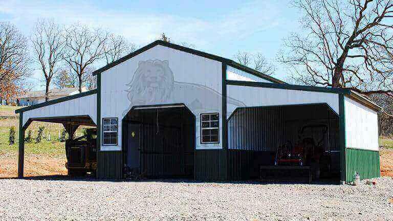36×20 All Vertical Barn Building
