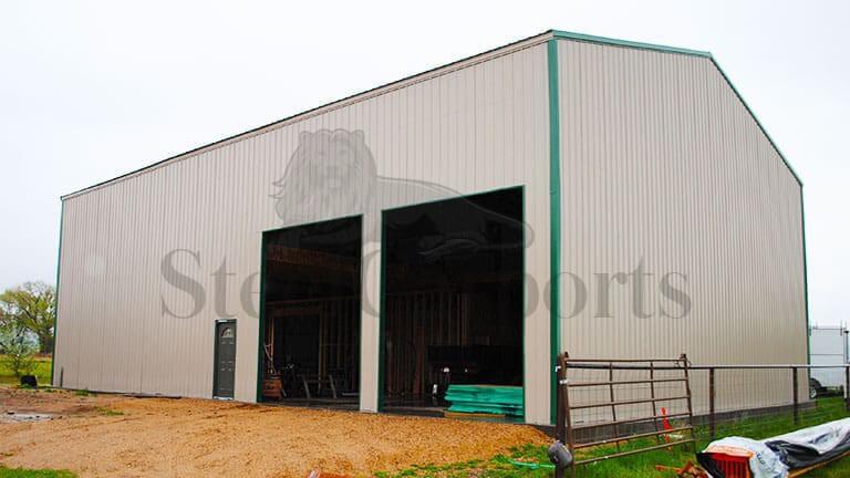 36×40 Vertical Roof Steel Warehouse