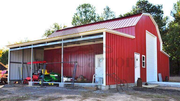 48×30 Gambrel Barn Building