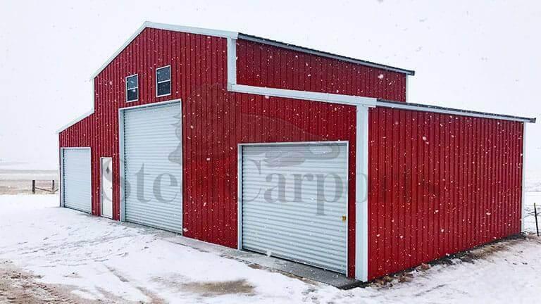 50×25 All Vertical Prefab Barn
