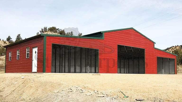 70×30 Raised Center Metal Barn