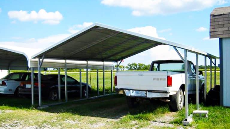 A Frame Horizontal Carport Cover Canope