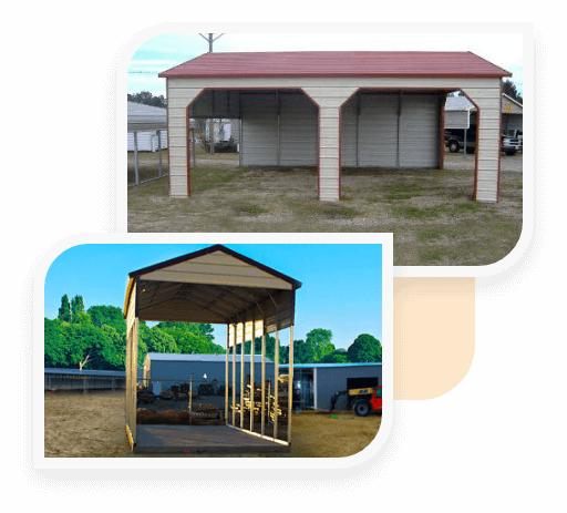 A-Frame Horizontal Carports