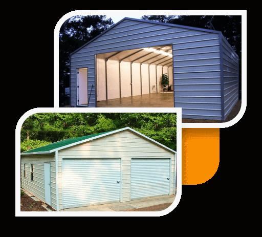 A-Frame Horizontal Garages