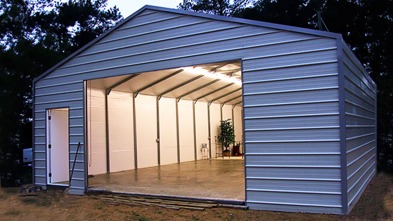 Metal A frame Horizontal Garage