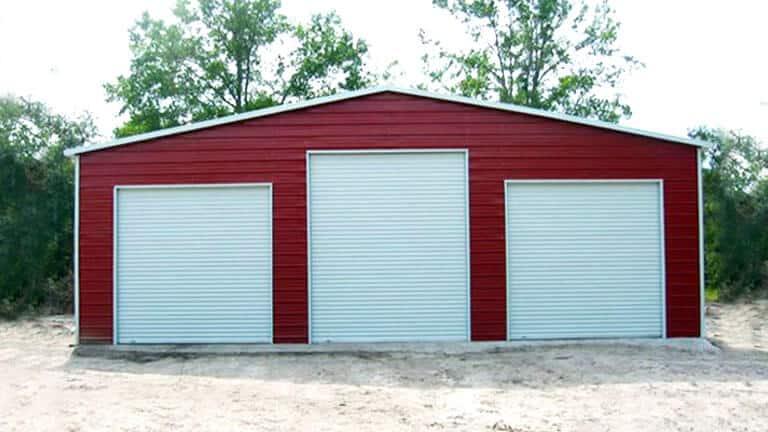 Straight Roof Steel Barn