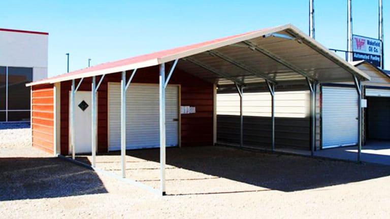 Utility Carport Metal Structure