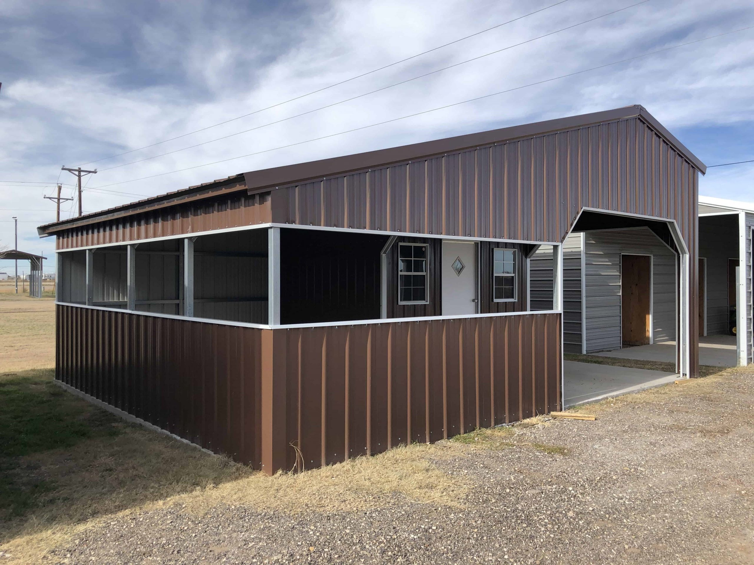 Steel Building With Living Quarter
