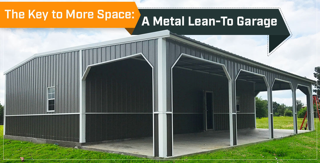 The Key to More Space: A Metal Lean-To Garage